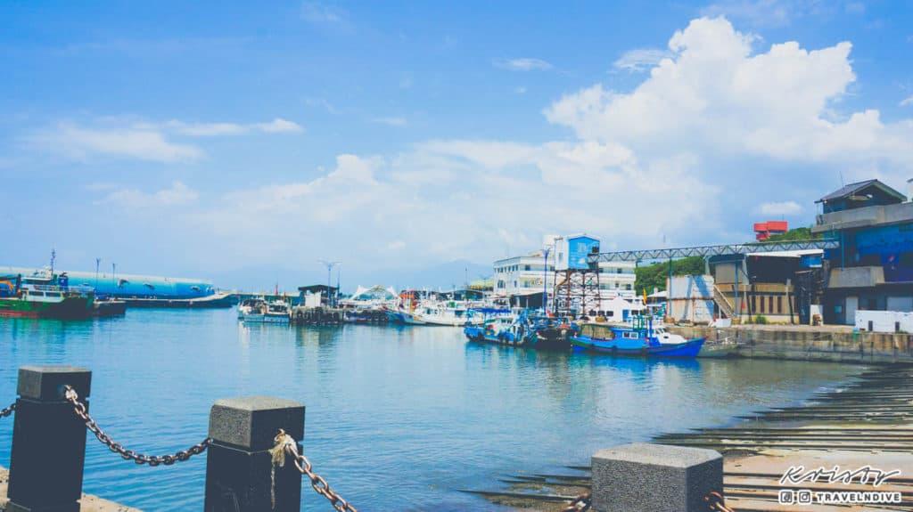 綠島潛水 台東富岡漁港碼頭